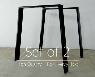 Metal Dining Table Legs set(2). Modern Steel Table Legs. Trapezoid, Trestle, Iron Desk Legs for Reclaimed Wood