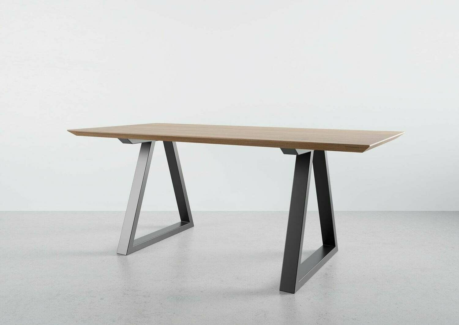Metal Dining Table Legs (set of 2) triangle-shape. Modern Steel Table Legs. Industrial Table Base. Iron Legs for Live Edge. [D015]