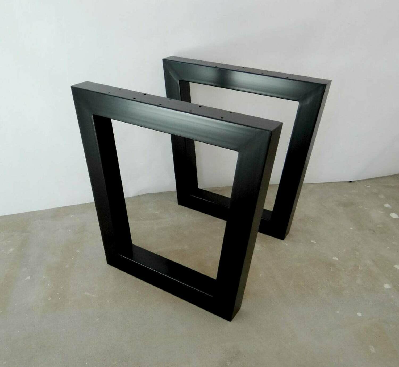 Metal Dining Table Legs (set of 2). Industrial Steel Table Legs. Kitchen Table Legs. Trestle Legs for Reclaimed Wood