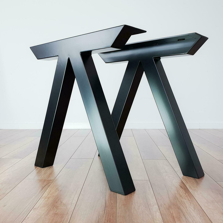 Metal Dining Table Legs. Industrial Kitchen Steel Table Legs. Heavy Duty Modern Desk Legs. Trestle Legs by StaloveStudio. [D024]