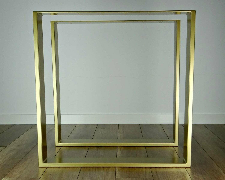 Metal Steel Dining Table Legs 80x20mm steel set(2), Modern Metal Table Legs. Industrial Table. [D031]