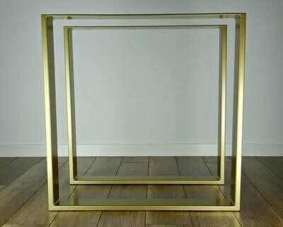 Metal Steel Dining Table Legs 80x20mm steel set(2), Modern Metal Table Legs. Industrial Table.