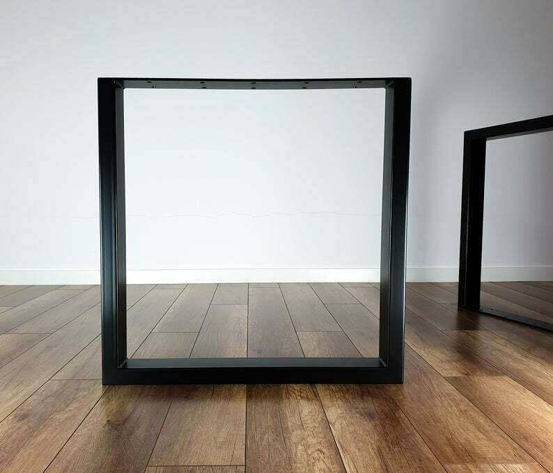 Metal Dining Table Legs set(2). 80x40mm Steel Table Legs. Iron Table Legs, Square by StaloveStudio