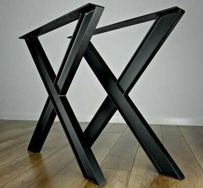 Metal Dining Table Legs (set of 2). Industrial Steel Table Legs. Table Base. X shape metal Table Frame
