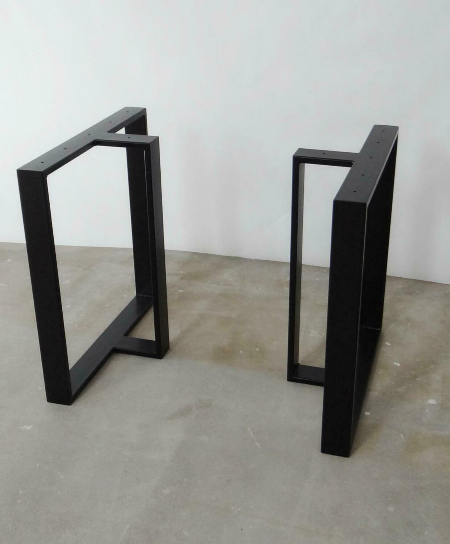 Metal Dining Table Legs (set of 2). T shape Steel Table Legs. Iron Table Legs. Industrial legs for Reclaimed Wood. [D044]