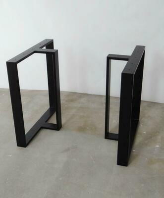Metal Dining Table Legs (set of 2). T shape Steel Table Legs. Iron Table Legs. Industrial legs for Reclaimed Wood