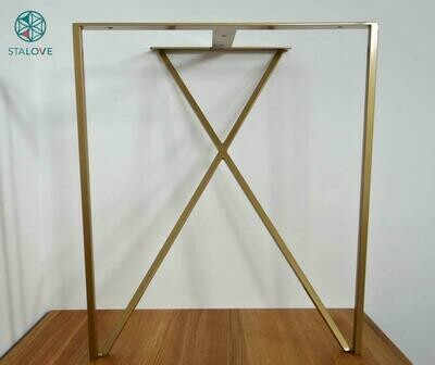 Steel Dining Table Legs. Metal Table Legs (set of 2). Iron Table Legs for Reclaimed Wood. Modern Desk Legs