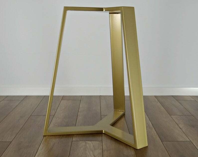 """Metal Dining Table Base 28"""" for round table. Modern Steel Table Legs. Industrial Metal table legs. Iron Table Legs. [D050]"""