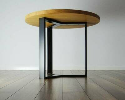 """Metal Dining Table Legs 28"""" for round table. Modern Steel Table Legs. Industrial Metal table Base."""