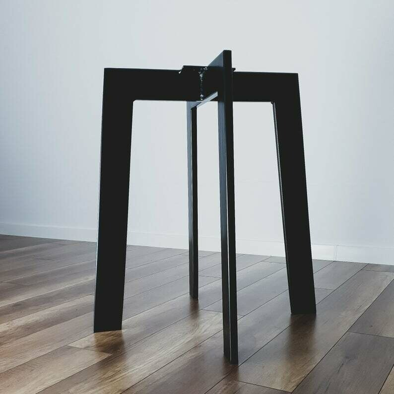 """Metal Dining Table Base 28"""" for round table. Modern Steel Table Legs. Industrial Metal table legs. Iron Table Legs. [D051]"""