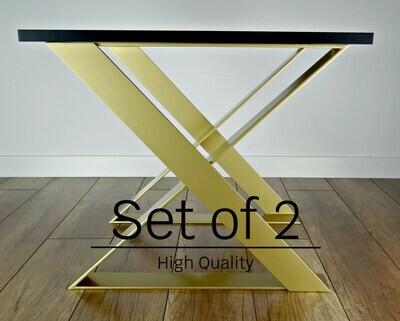 "Metal Coffee Table Legs set(2) 16""x20"", steel side table legs, iron end table legs. [D057]"