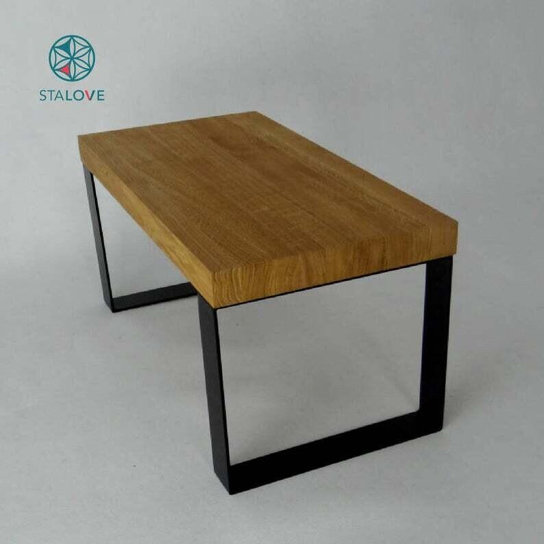 Metal Coffee Table Legs 35x41cm. Industrial Steel Bench Legs (set of 2). Simple and Sleek by StaloveStudio [D058]