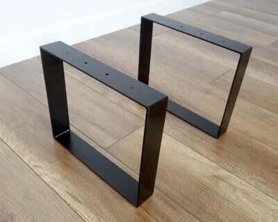 Metal Coffee Table Legs 30x41cm. Industrial Steel Bench Legs (set of 2). Simple and Sleek by StaloveStudio.