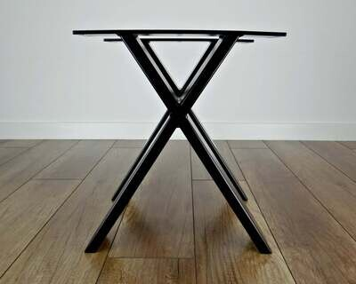 Metal Coffee Table Legs (2). Steel coffee table legs for bench, stool. X iron coffee table legs. [D063]