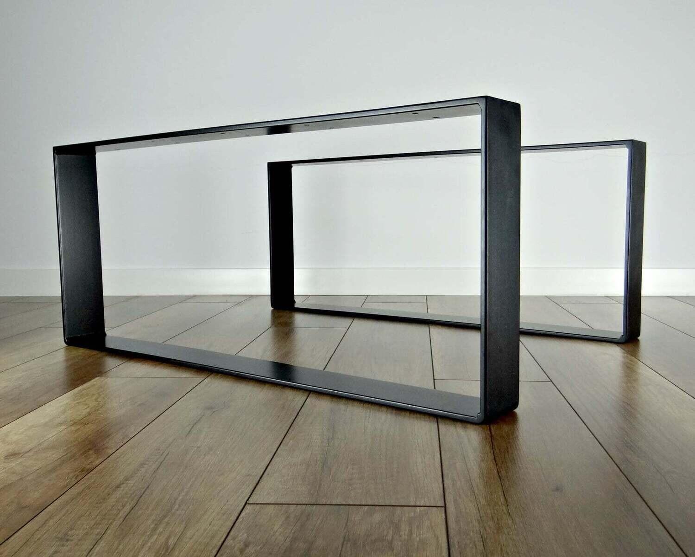 Metal Coffee Table Legs. Steel Side Table Legs (set of 2). Simple and Sleek by StaloveStudio. [D062]