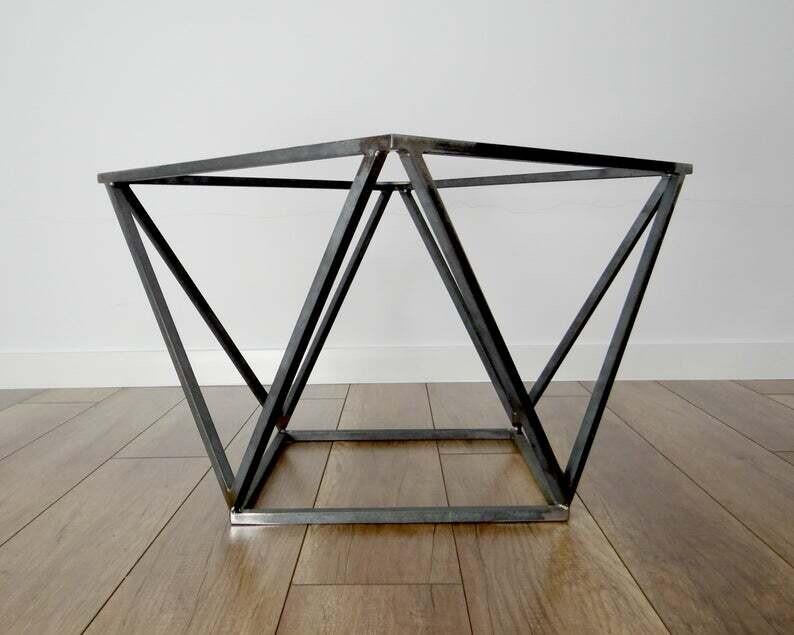Steel Coffee Table Base 55x55cm. Modern Coffee Table Legs. Metal Coffee Table Legs. Industrial from StaloveStudio. [D066]