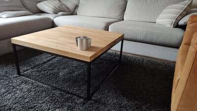 Metal table base for coffee table. Steel Coffee table legs. Industrial side table legs. Handmade in Poland. StaloveStudio. [D070]