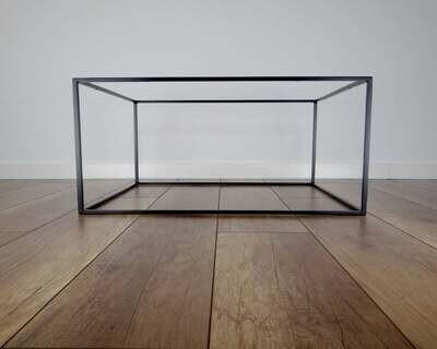 Slim Metal Base for Coffee Table (60x80cm). Mid Century Modern Coffee Table Legs. Industrial, Steel by StaloveStudio. [D071]