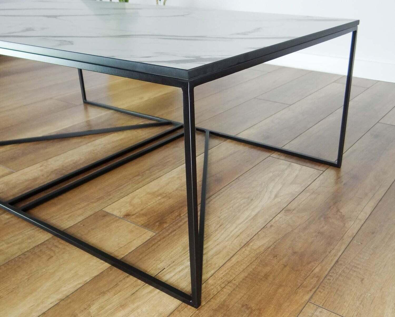 INKA Steel Coffee Table Base 100x60cm. Large Modern Coffee Table Legs. Metal Coffee Table Legs. Industrial from StaloveStudio. [D074]