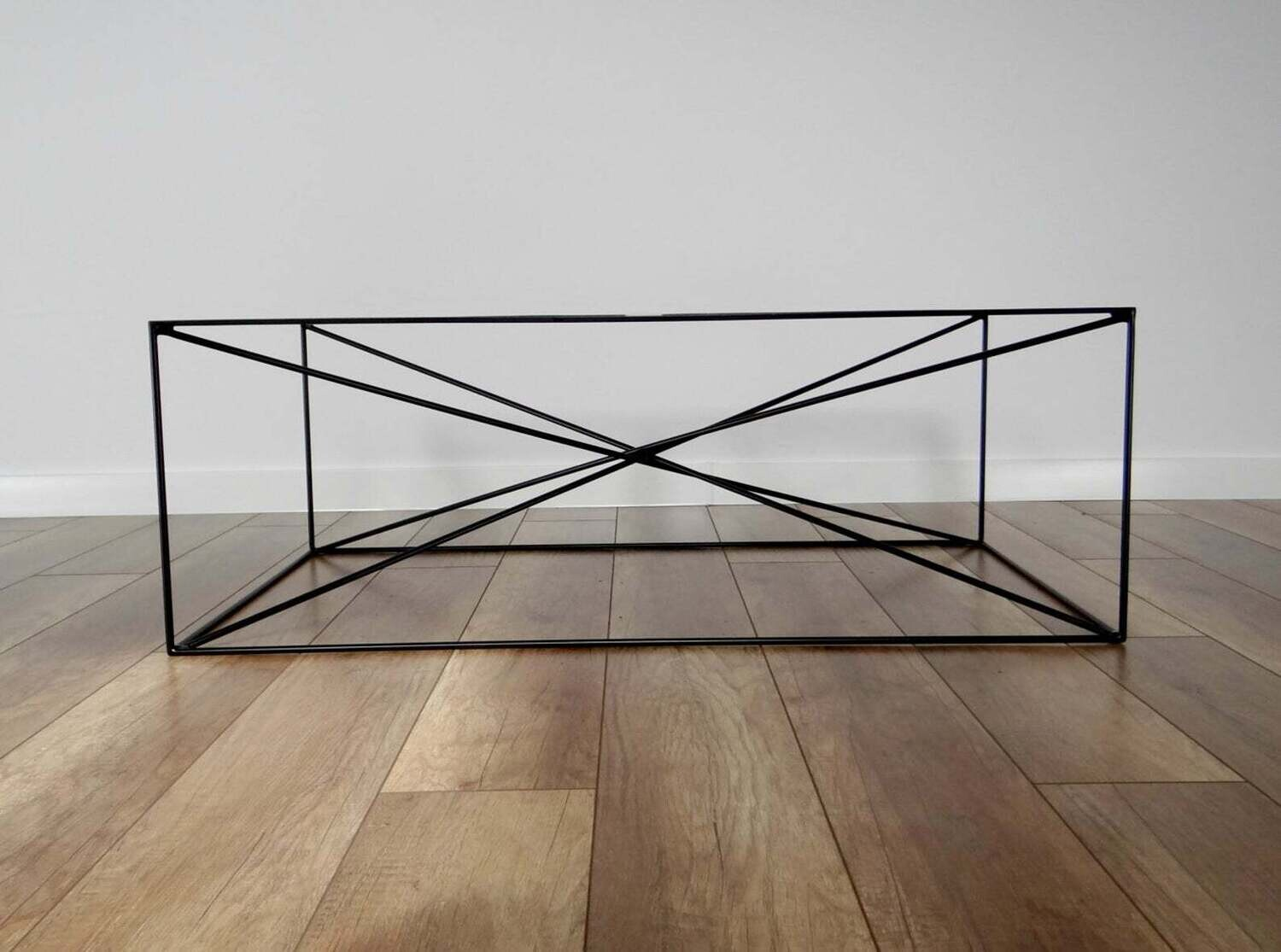 SPIDER Steel Coffee Table Base 100x60cm. Large Modern Coffee Table Legs. Black Metal Coffee Table Legs. Industrial from StaloveStudio. [D075]