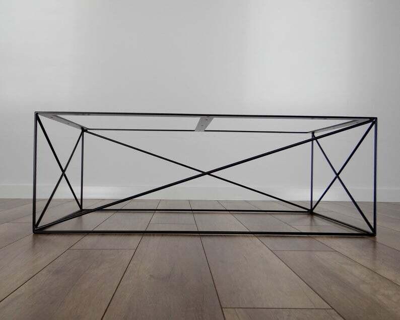 Metal Coffee Table Base CHARLIE, XL size (100x60cm). Mid Century Modern Design. Industrial by StaloveStudio. [D076]
