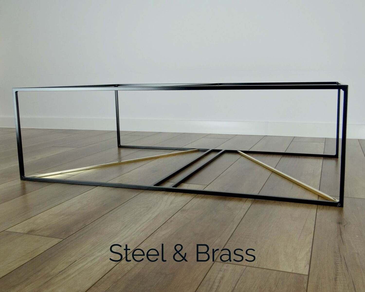 Metal Coffee Table Base 100x60cm. INKA- brass and steel. Large Modern Coffee Table Base. Black Coffee Table Frame. [D078]
