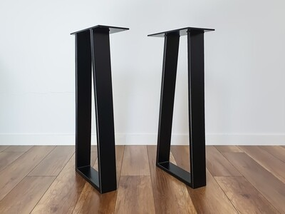 Metal Narrow Console Table Legs set(2) I Entry table legs I Steel table legs I Modern iron table legs. [D080]