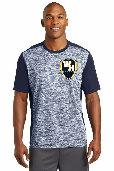 Sport-Tek® PosiCharge® Electric Heather Colorblock Tee - Crest