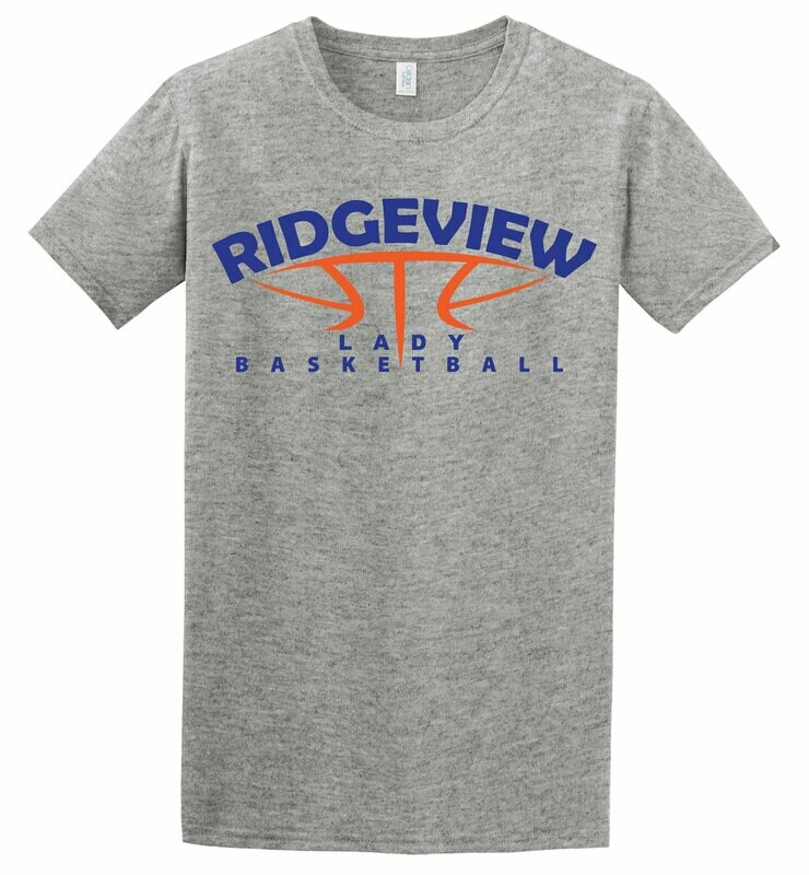 Lady Basketball Softstyle Tee - 2 Color