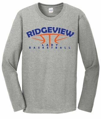 Lady Basketball Softstyle Long Sleeve Tee - 2 Color