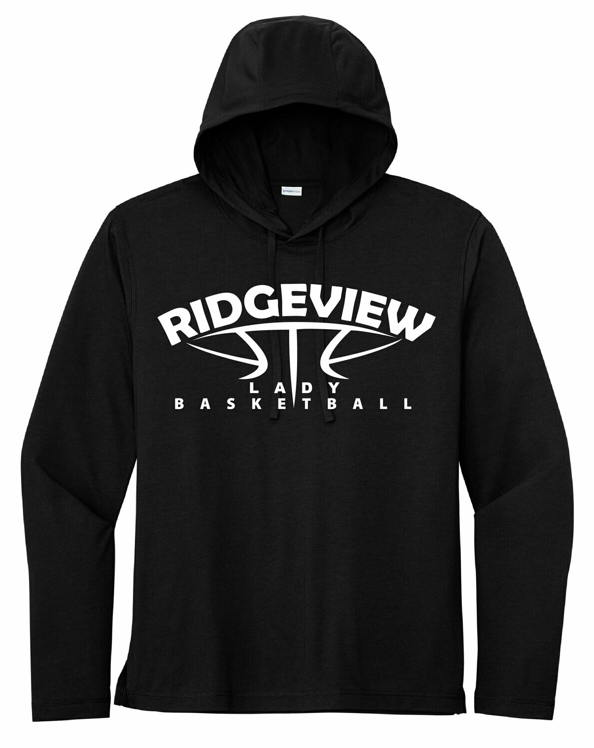 Sport-Tek PosiCharge Tri-Blend Wicking Long Sleeve Hoodie - Lady Basketball Logo
