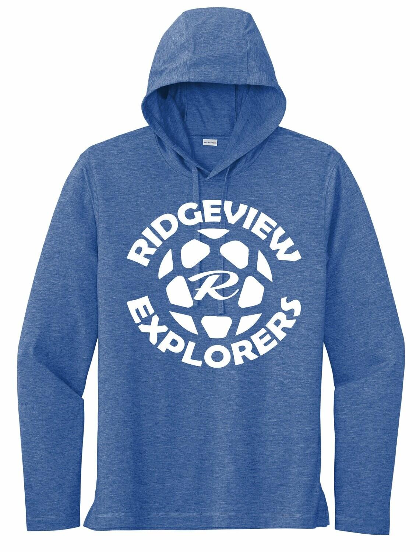 Sport-Tek PosiCharge Tri-Blend Wicking Long Sleeve Hoodie - Explorer Logo