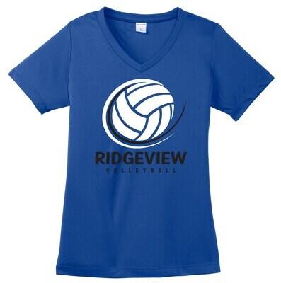 Sport-Tek® Ladies PosiCharge® Competitor™ V-Neck Tee - Swoosh Logo
