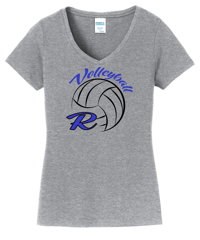 Port & Company® Ladies Fan Favorite™ V-Neck Tee - R-Volley Logo