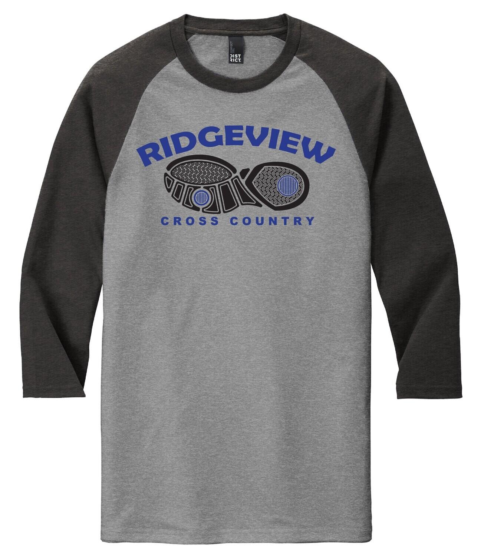District ® Perfect Tri ® 3/4-Sleeve Raglan - Shoe Logo