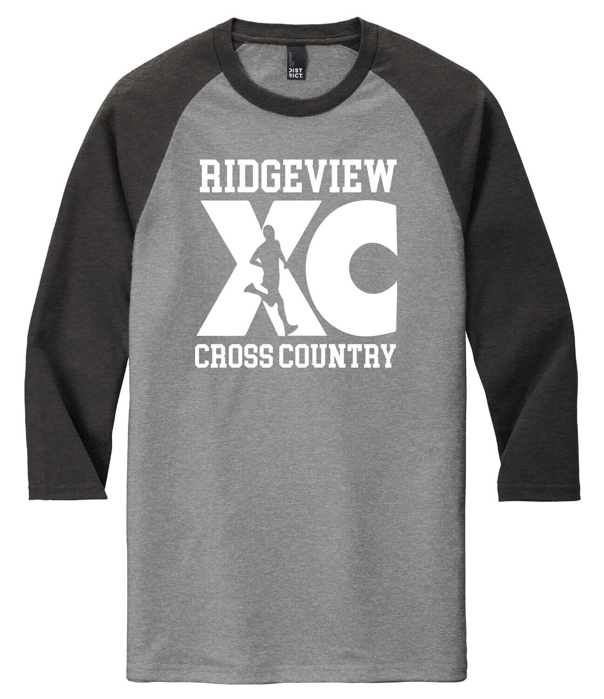 District ® Perfect Tri ® 3/4-Sleeve Raglan - XC Logo