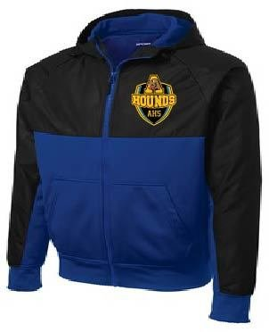 Sport-Tek Embossed Hybrid Full Zip Hooded Jacket