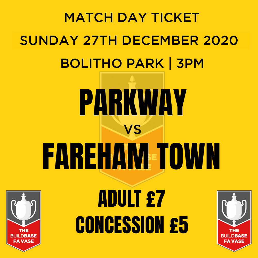 Parkway v Fareham Town Match Day Ticket
