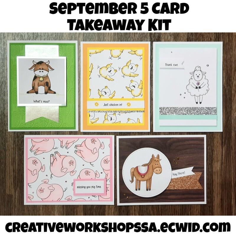 September 5 card takeaway kit