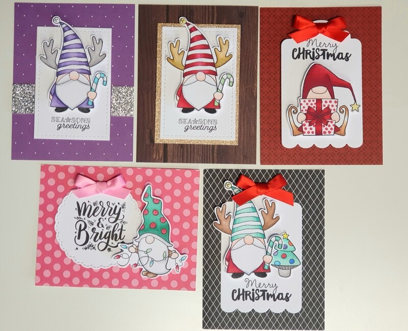 October 5 card takeaway kit - Christmas gnomes