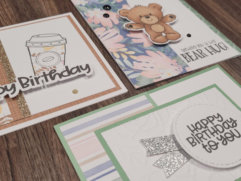 3 Card Workshop Feb 2021 -  Takeaway kit