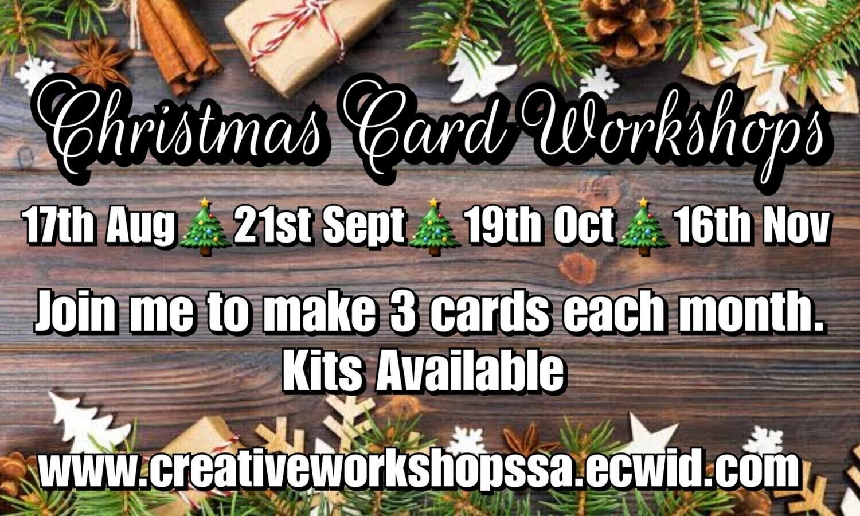 🎄 October Christmas Card Workshop 19th October 7pm or takeaway kit option