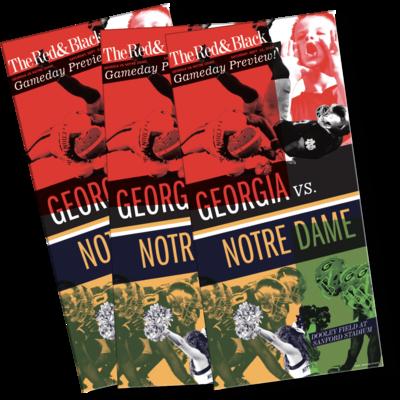 Special Edition Georgia vs. Notre Dame small poster