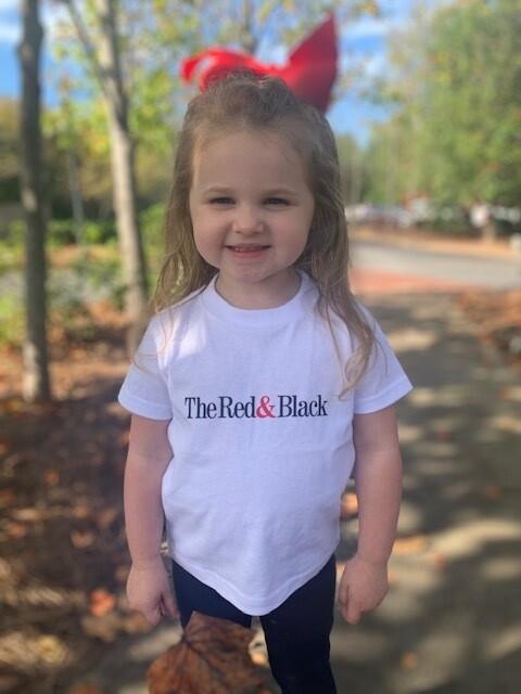 Kids Red & Black Logo Tee