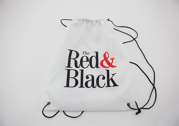 Red & Black Drawstring Bag