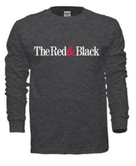 Red & Black Long-Sleeved Tee (Dark Blue Gray)