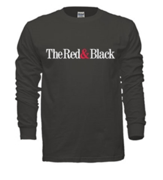 Red & Black Long-Sleeved Tee (Charcoal)