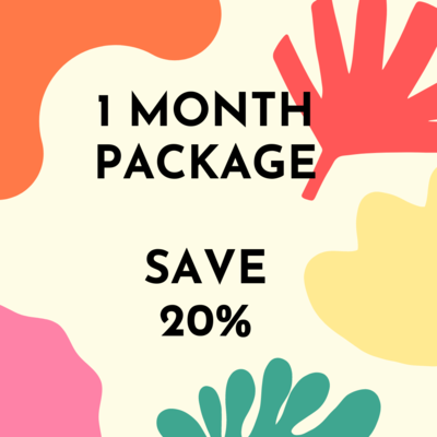 One Month Package - class and supervision