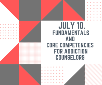 CAC Class July 10. Earn 7.5 contact hours.