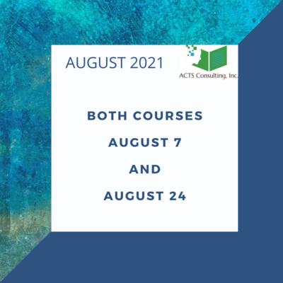 August 4 and 21, 2021. Earn 15 contact hours.